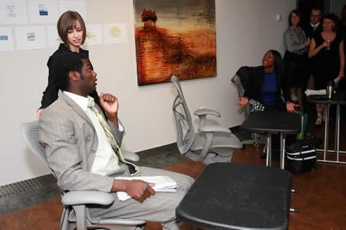 Mixed Company cast in STRESS: Sefton Jackson, Carrie Adelstein, Tashieka McTaggart