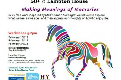 Coming this Feb – 50+ @ Lambton House